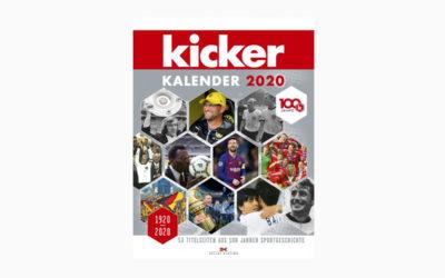 Kicker Kalender 2020 – 100 Jahre am Ball – 53 Titelseiten aus 100 Jahren Sportgeschichte