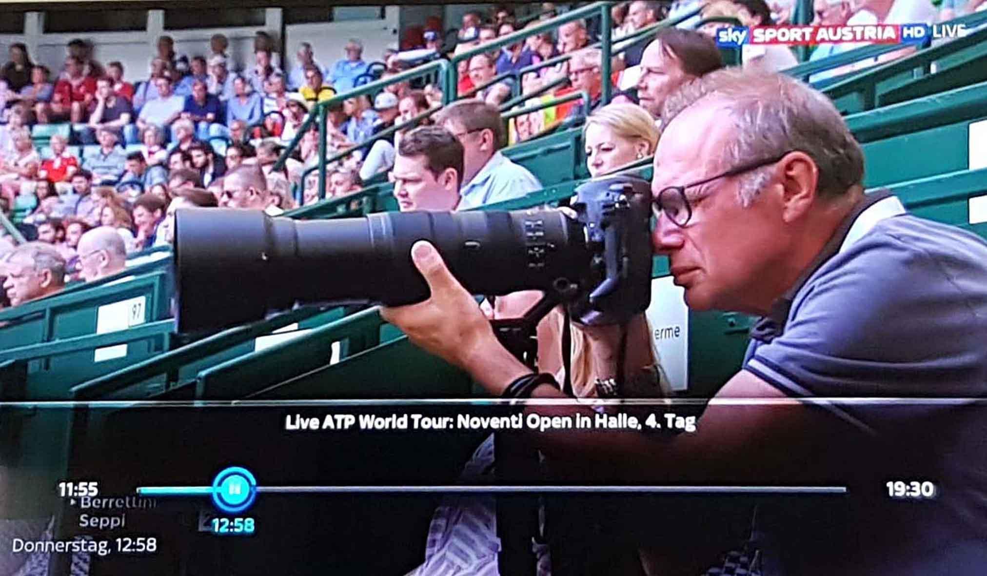 Live auf Sendung auf Sky Sport Austria bei den Noventi Open in Halle/Westfalen