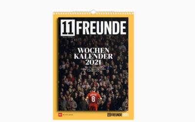 """Kalender: """"11FREUNDE Wochenkalender 2021"""" – Fußball-Geschichte wiedererleben"""