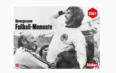 """Kalender: """"Unvergessene Fußball-Momente 2021"""" – Magische Augenblicke des Fußballs"""
